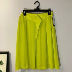 NWT neon Calvin Klein 100% silk skirt